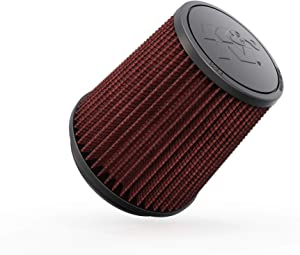 K&N Universal Clamp-On Air Filter: High Performance, Premium, Washable, Replacement Filter: Flange Diameter: 4.5 In, Filter Height: 6 In, Flange Length: 0.625 In, Shape: Round Tapered, RU-4740 , Black
