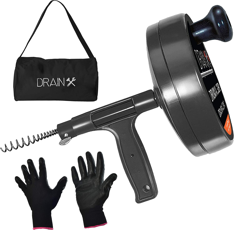 Drainx Pro Steel Drum Auger Detroit Mall Plumbing Duty Dr Heavy 25-Ft In stock Snake