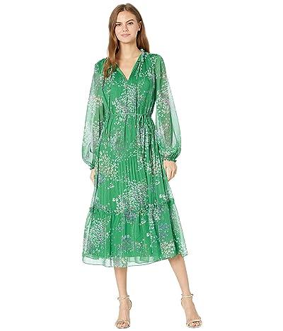 Ted Baker Rosiiie Serendipity Pleated Long Sleeve Midi Dress Women