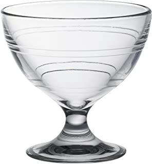 Duralex Made In France Gigogne Glass Ice Cream Cup (Set of 6), 8.75 oz, Clear