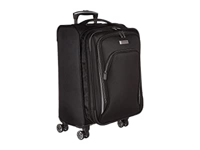 Kenneth Cole Reaction 20 Cloud City Lightweight Softside Expandable 8-Wheel Spinner Carry-On Suitcase (Black) Luggage