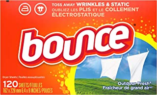 Bounce Fabric Softener Dryer Sheets for Static Control, Outdoor Fresh Scent, 120 Count