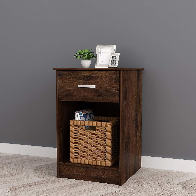 Popular Genuine standard RAAMZO 2-Tier Nightstand End Table Home Side for O Bedroom