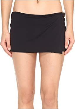 MICHAEL Michael Kors Villa Del Mar Logo Ring Swim Skirt