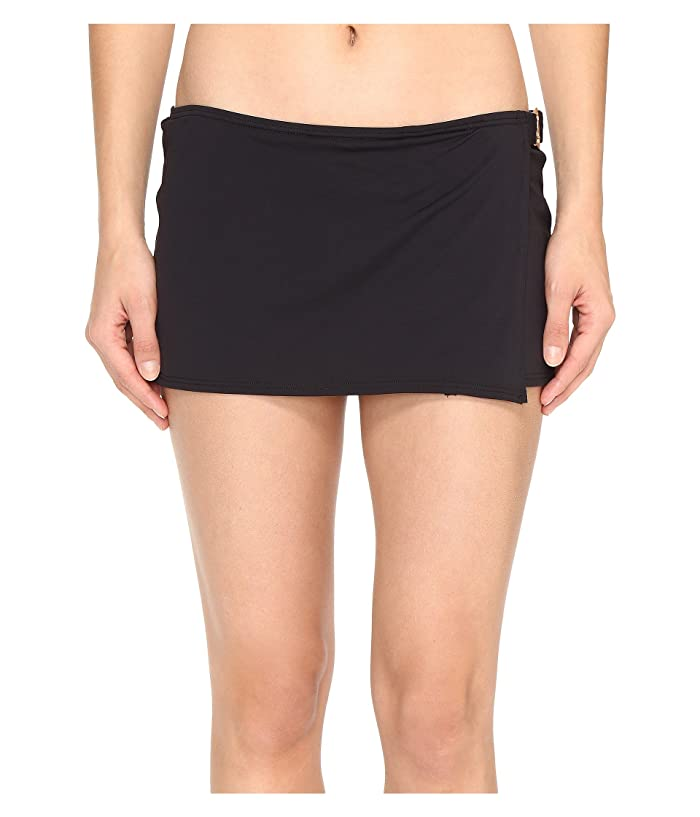 MICHAEL Michael Kors Villa Del Mar Logo Ring Swim Skirt (Black) Women