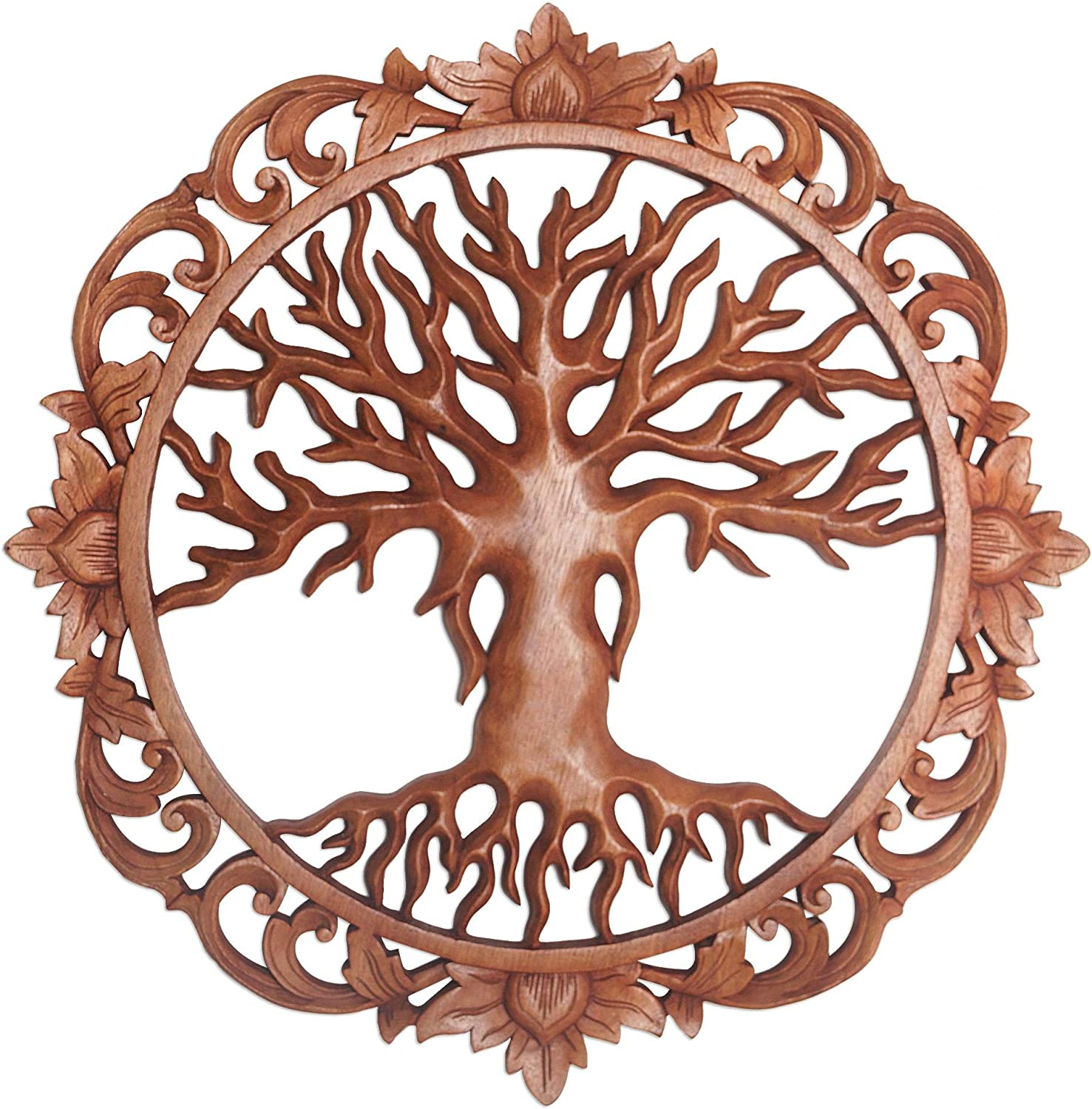 NOVICA Nature Lover Wood Relief Finally resale start Panel Sculpture Tre Wall Ranking TOP16 Brown