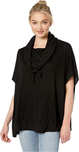 Convertible Cowl High-Low Poncho
