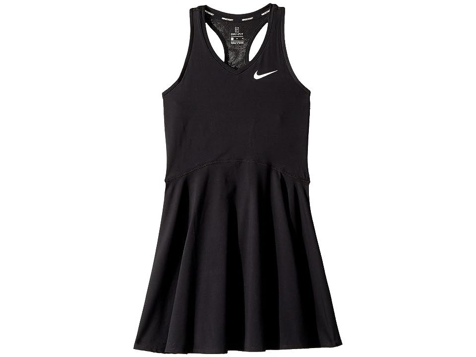 Nike Kids Court Pure Tennis Dress (Little Kids/Big Kids) (Black/White) Girl