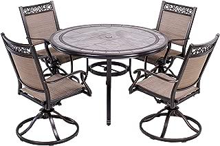 Best patio set tile top Reviews