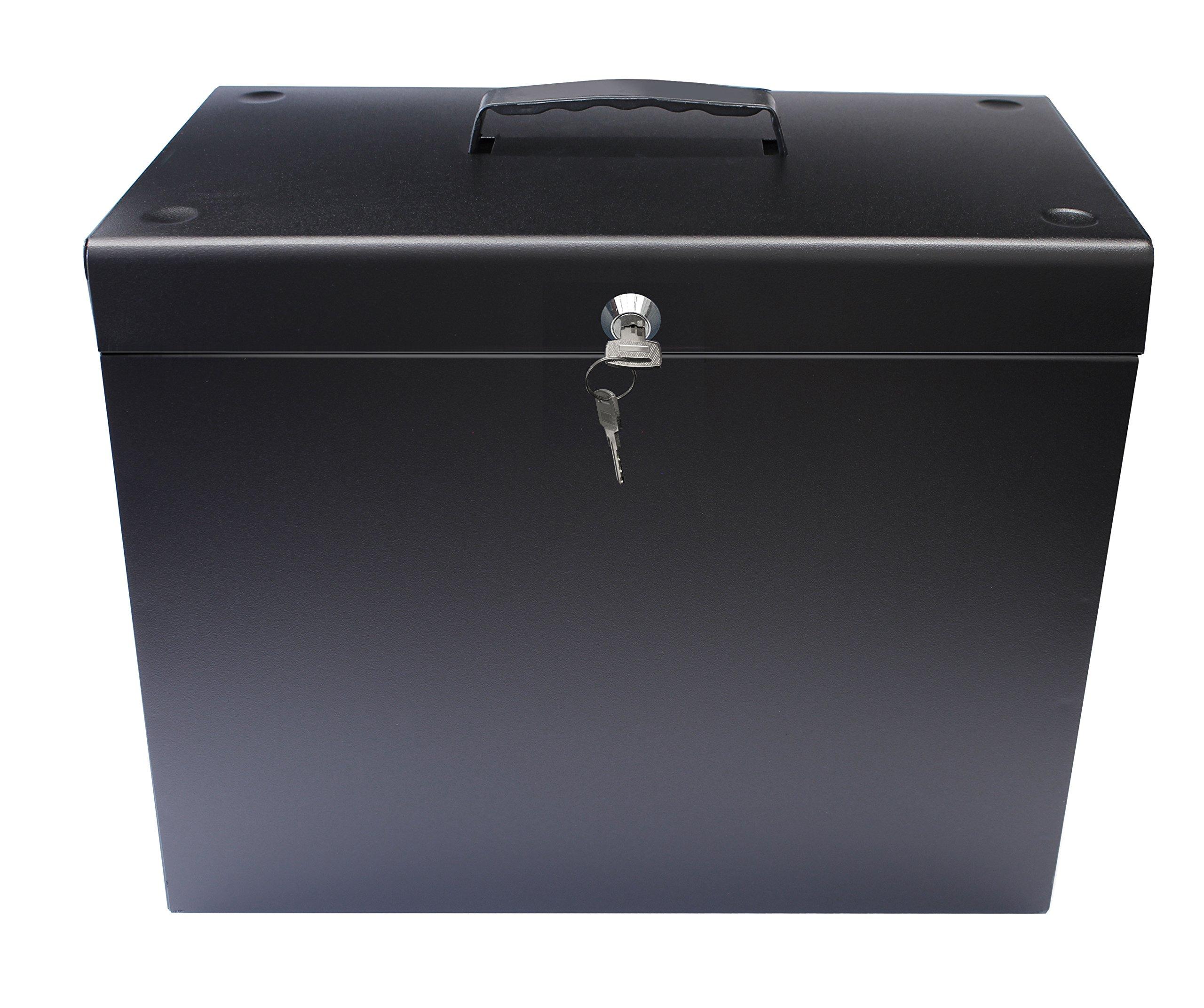Cathedral Caja archivadora de metal, tamaño A4, color negro: Amazon.es: Oficina y papelería