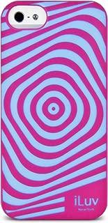 iLuv Aurora Illusion Glow-in-Dark Case for iPhone 5S - Retail Packaging - Pink