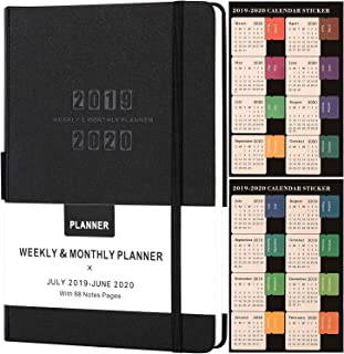 Planner 2019-2020 - Academic Weekly/Monthly Planner, Saffiano Leather with Pen Holder with Thick Paper, Back Pocket with 88 Notes Pages | Special Box - 5.75