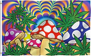 ANLEY Fly Breeze 3x5 Foot Marijuana Mushroom Flag - Vivid Color and Fade Proof - Canvas Header and Double Stitched - Weed ...