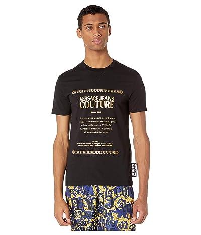 Versace Jeans Couture Warranty Logo Metallic Foil T-Shirt (Black/Gold) Men