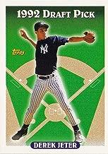Topps 1993 98 Derek Jeter (RC) - New York Yankees - Rookie Baseball Card in Protective Display Case