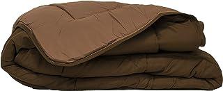Couette bicolore Polyester Chocolat/Moka 200 x 200 cm - POYET MOTTE - Gamme CALGARY
