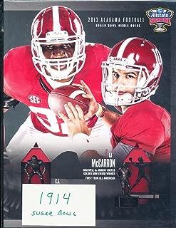 Alabama Football Media Guide 2013 Sugar Bowl AJ McCarron