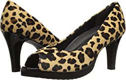Leopard Print Haircalf/Black Patent
