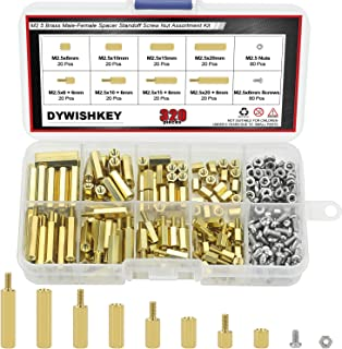 #4-40 Screw Size 0.25 OD Hex Standoff Female Brass Pack of 1 Zinc Plated 5.5 Length,