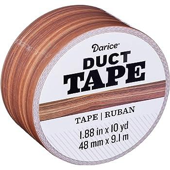 Duck  1.88 in W x 10 yd L Brown  Woodgrain  Duct Tape