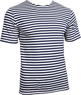 Epic Outdoor Russian Navy T-Shirt - Navy Blue Stripes