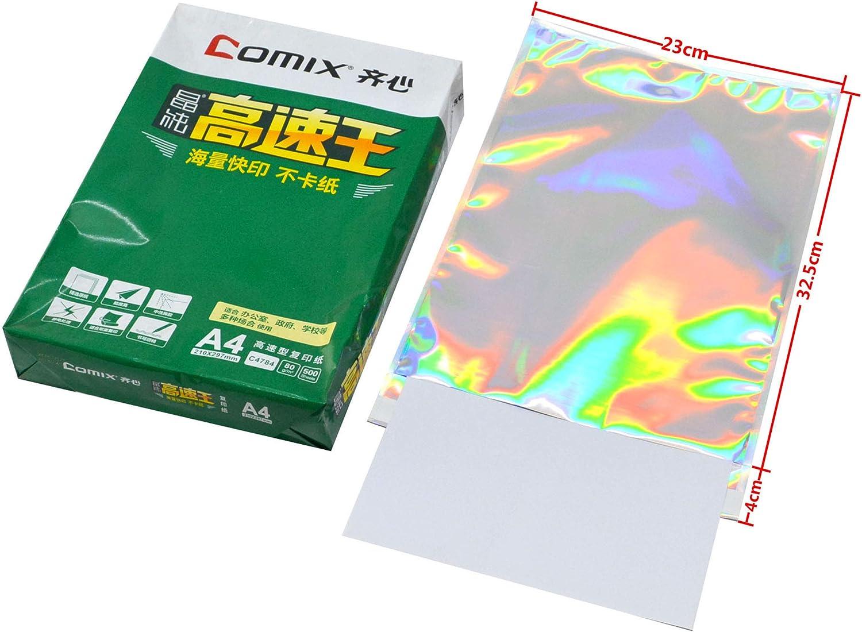 100 pcs Hologram Aluminum Foil Adhesive 国内送料無料 Pouch Courier Storage 年中無休 Ba