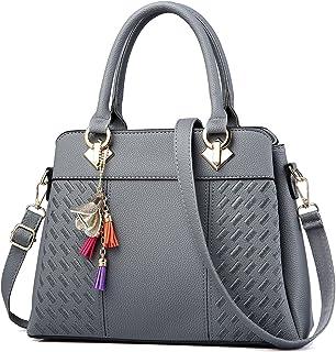 IBFUN Women Handbags Top Handle Bags PU Leather Shoulder Bags Satchels Tote  Bags Ladies Purses 591c558ccbe52