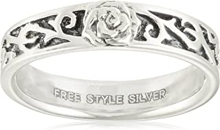 [FREE STYLE] FREE STYLE 阿拉伯风格&玫瑰主题银戒指 黑色