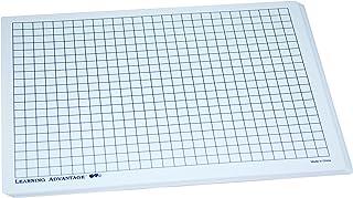 Learning Advantage 7856 Centimeter Grid Plastic Dry Erase Board, Grade: Kindergarten, Plastic (Pack of 10)