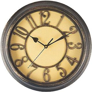 Belinlen 12 Inch Wall Clock Bedroom Wall Clock Retro Non Ticking Silent Quartz Decorative Wall Clock (Bronze)