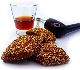 Mostaccioli al vino, de bekende AMBACHTELIJK koekjes met amandelen en sesamzaadzaad uit Sicilië (gr. 750). RAREZZE: typisc...