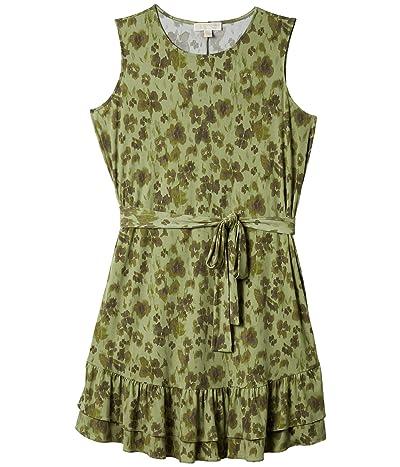 MICHAEL Michael Kors Plus Size Mega Poppy Ruffle Dress (Light Sage) Women
