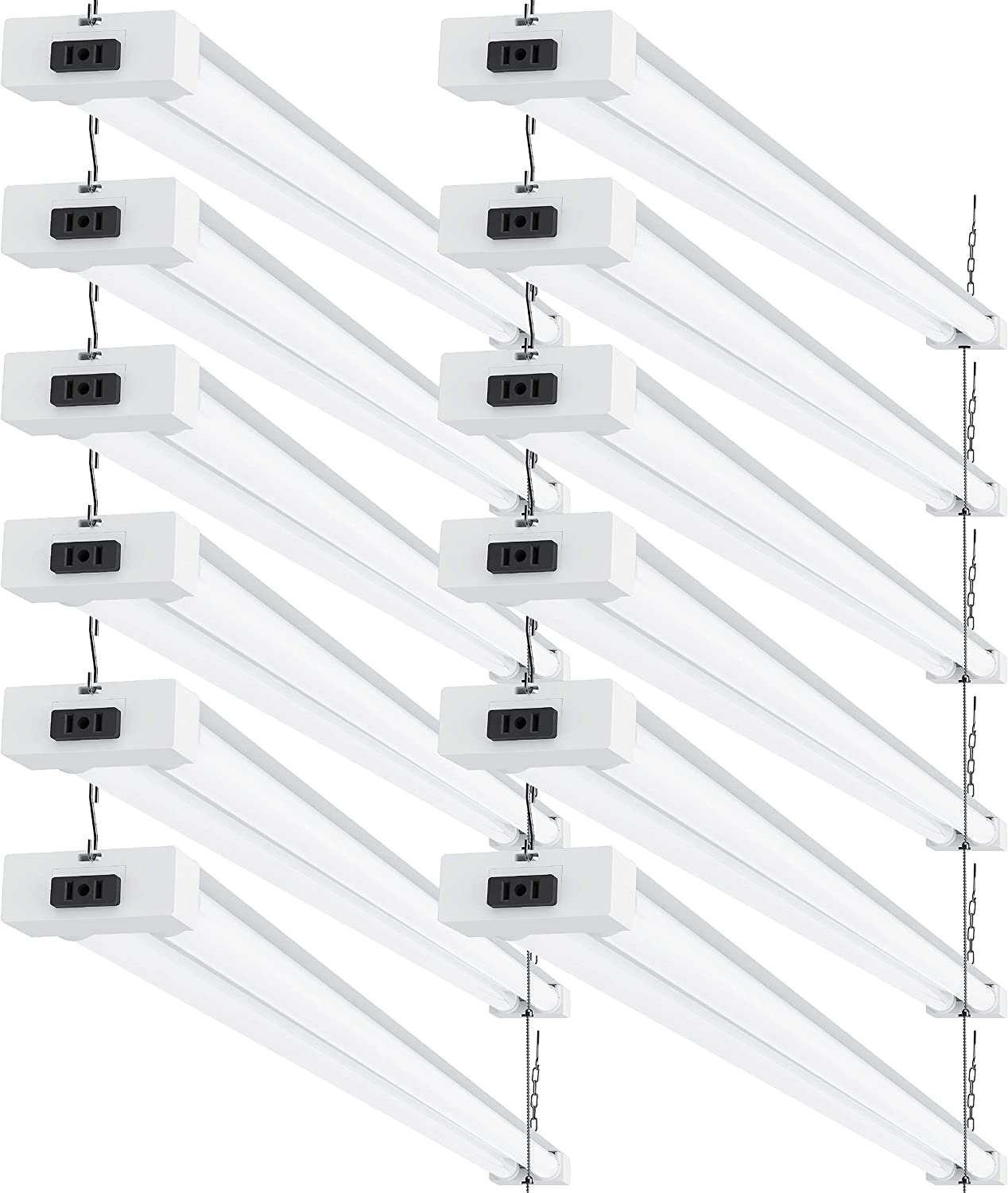 Sunco Lighting 12 Pack LED Utility Linkable Free Shipping Cheap Bargain Gift In Light FT OFFicial Shop 4