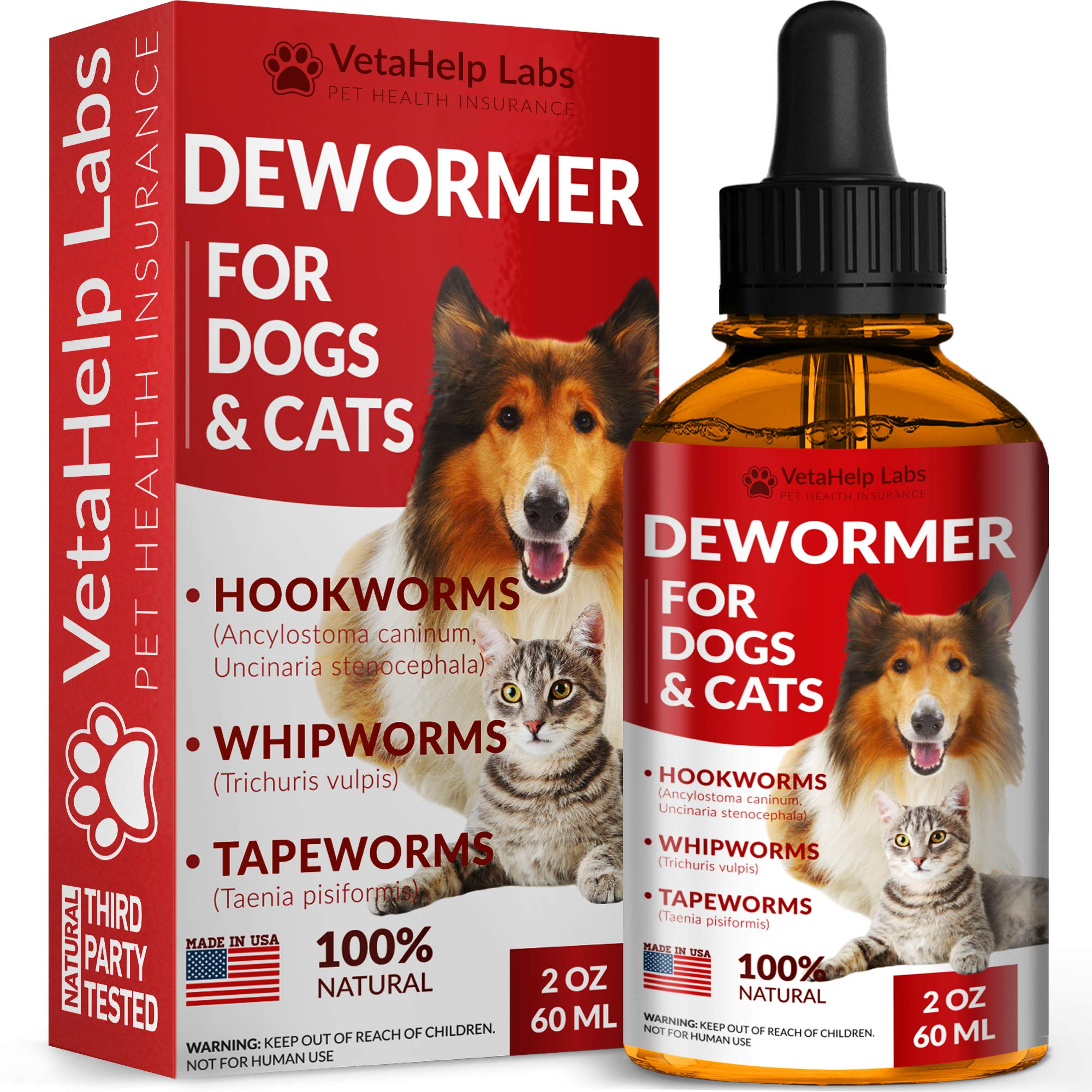 VetaHelp Labs Dewormer Dogs Cats