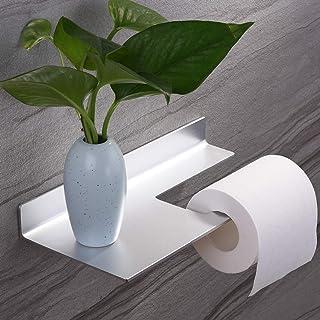 Porte Papier Toilette Auto - Adhésif Porte Rouleau de Papier WC Mural pour Salle de Bain avec Support de Téléphone etagere...