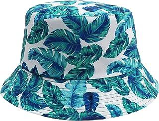 قبعة باكيت شمسية للجنسين مطبوعة قابلة للطي ذات وجهين، قبعة صيد تشبه الدلو للرجال والنساء والفتيات والاولاد من جياجوي