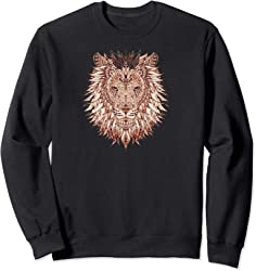 African Painted Lion Sweatshirt