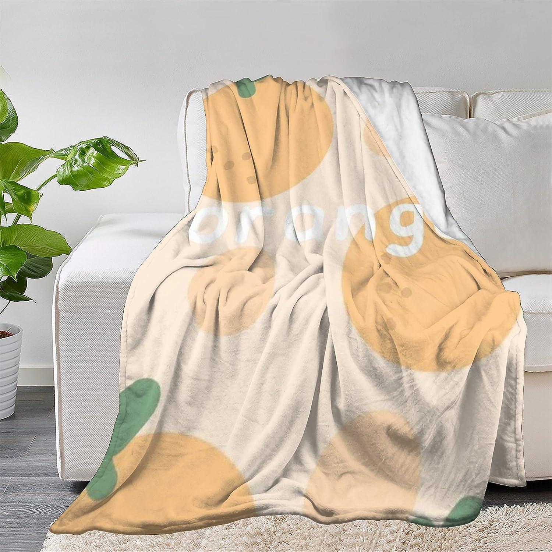 FUNDESIGN Orange Fruit Flannel Throw Brand Cheap Sale Venue Soft Blanket Luxury Ultra Lightwe