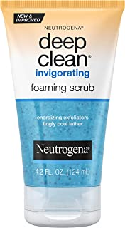 Neutrogena Deep Clean Invigorating Foaming Face Scrub with Glycerin, Cooling & Exfoliating Face Wash to Remove Dirt, Oil &...