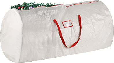 Elf Stor Christmas Tree Storage Bag, Extra Large for a 9 Foot Artificial Tree, Plastic, White, Extra Large