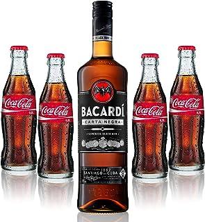 Cuba Libre Set - Bacardi Carta Negra Rum 1L 40% Vol  4x Coca Cola 0,2L - Inkl. Pfand MEHRWEG
