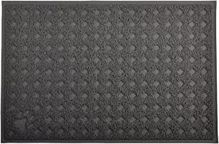 Cat Pet Litter Box Mat,Kitty Litter Rug,Doormat,Rectangle Shape, 23.5x15.75 Inches,4 Colors Available (Gray)