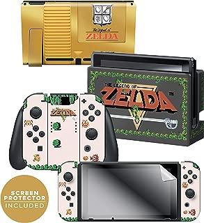 Controller Gear Nintendo Switch Skin & Screen Protector Set - The Legend of Zelda - Gold Cartridge - Nintendo Switch