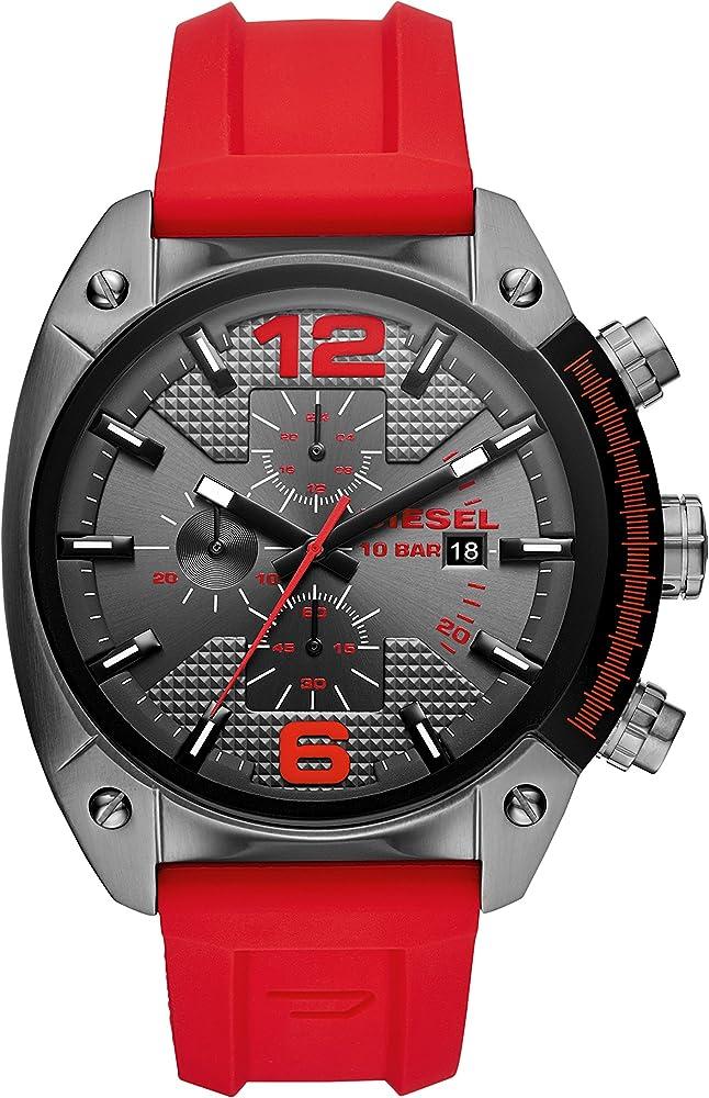Diesel orologio cronografo uomo con cinturino in silicone e cassa in acciaio inossidabile DZ4481