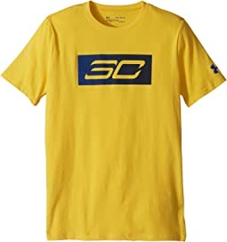 Steph Curry 30 Logo Short Sleeve Tee (Big Kids)