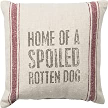Spoiled Rotten Dog 10 Square Small Accent Pillow