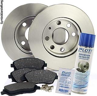 Bremsscheiben Ø260mm + Bremsbeläge Klötze vorne Vorderachse + 500ml Bremsenreiniger