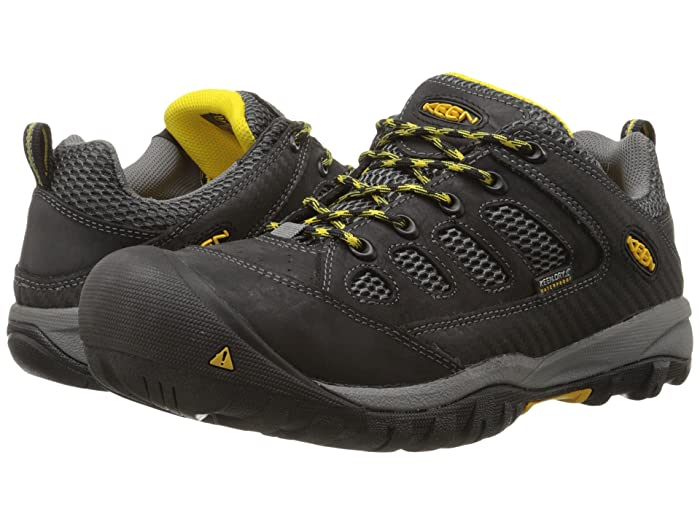 Keen Utility  Tucson Low Steel Toe (Black/Gargoyle) Mens Work Lace-up Boots
