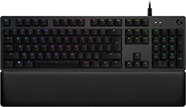 Logitech G513 Carbon LIGHTSYNC RGB Mechanical Gaming Keyboard with GX Blue Switches - Clicky