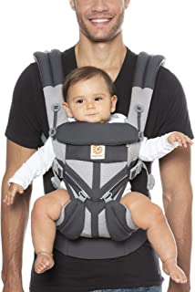 Ergobaby Carrier, Omni 360 All Carry Positions Baby Carrier with Cool Air Mesh, Carbon Grey